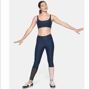 Outdoor voices dipped colorblock leggings